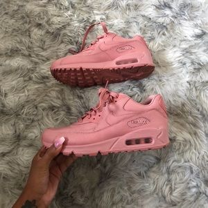 Rose Pink Leather Nike Air Max 90